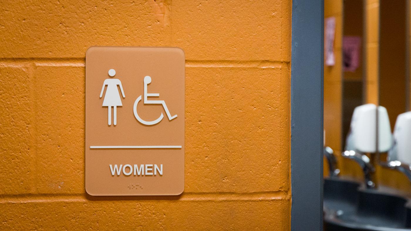 Women's Bathroom sign
